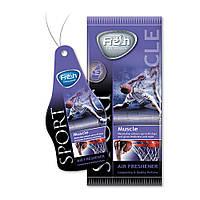 Ароматизатор сухой листик Fresh Way Sport Dry Muscle (Сила)