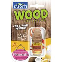 Ароматизатор корковий на дзеркало Tasotti Wood Pina Colada (Піна Колада) 7ml