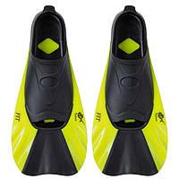 Ласты для плавания короткие Dolvor FIT с закрытой пяткой, р-р S (38-39), резина, желтый (СМИ F368/S-2)