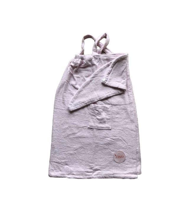 Комплект для сауни Linda Kadir махровий жіночий 2 предмета р. XL/XXL рожевий арт.8698485045764