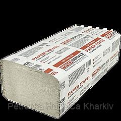 Полотенца бумажные PRO service OPTIMUM. V-сл. Серый макулатурный 160 шт.(25 шт\ящ.)