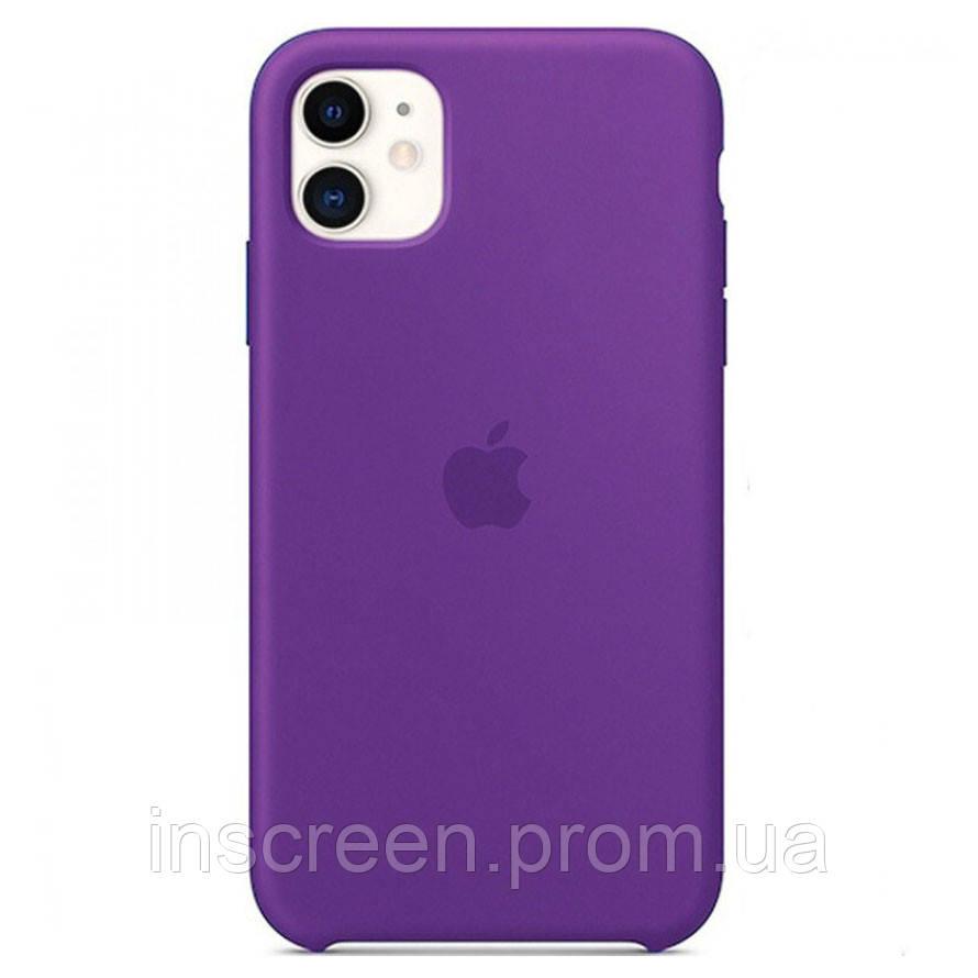 Чехол силиконовый Silicone Case для Apple iPhone 11 Pro Deep Purple