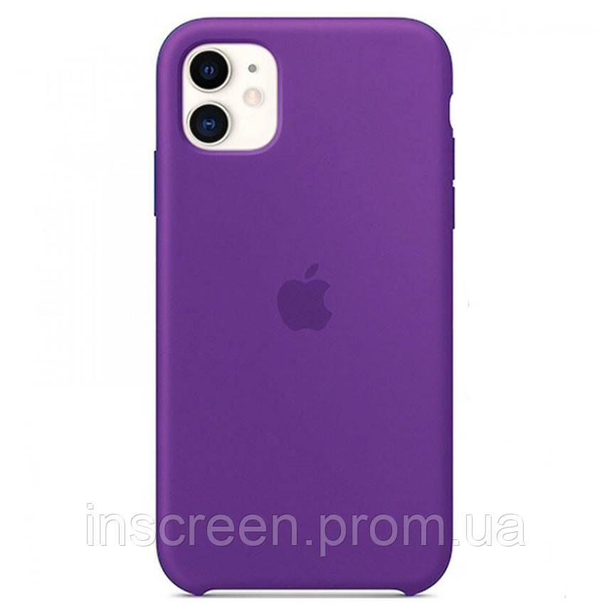 Чехол силиконовый Silicone Case для Apple iPhone 11 Pro Deep Purple, фото 2