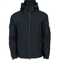 Куртка тактическая мужская Shark Skin черная, Куртка тактична чоловіча Shark Skin чорна