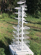 Стелаж сітчастий двосторонній універсальний 60 см
