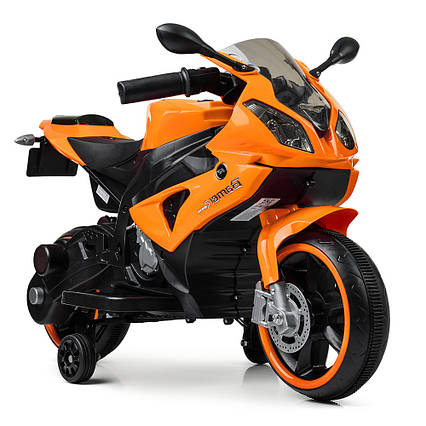 Детский электромотоцикл Bambi M 4103-7 Оранжевый