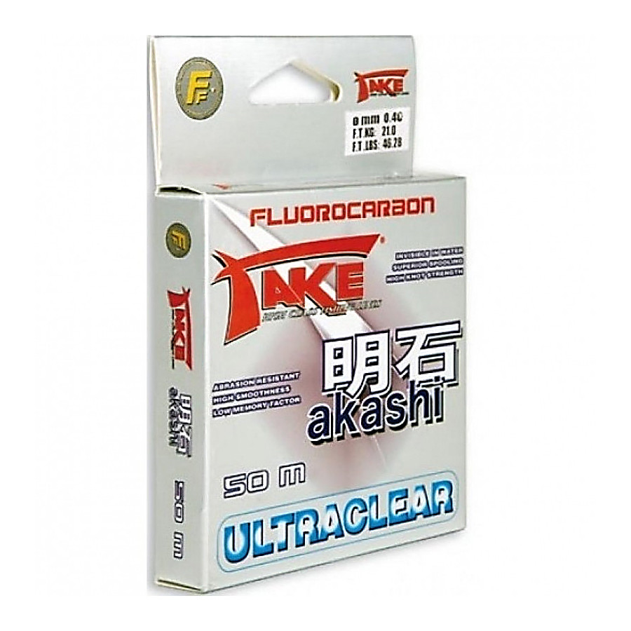 Леска Lineaeffe Take AKASHI Fluorocarbon  50м. 0.60мм  FishTest 34.00кг  Made in Japan