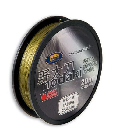 Шнур поводочный Lineaeffe NODAKI BRAID 20м, 0.25мм, 17.5кг Made in Japan