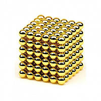 Неокуб vагнитный конструктор головоломка / NeoCube 216 шариков по 5 мм, цвет золотой