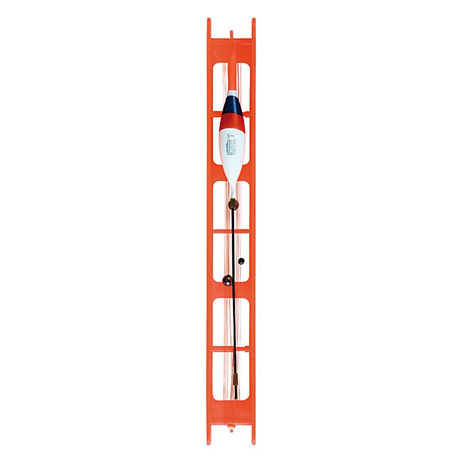 Оснастка поплавочная Lineaeffe Fluorocarbon ARANCIO (1.5гр осн леска0.18 пов.0.16 крючок№12)