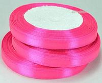 Лента атласная 5-7 мм Ярко-розовый
