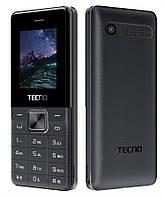 "Мобильный телефон Tecno T301 Dual Sim Black (4895180743320); 1.77"" (128х128) TN / клавиатурный моноблок / microSD до 16 ГБ / камера 0.08 Мп / 2G (GSM)"