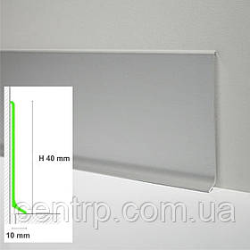 Алюминиевый плинтус для пола Profilpas Metal Line 90/4 высота 40 мм
