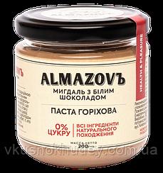 Натуральная ореховая  паста Almazovъ Миндаль с Белым Шоколадом   0% сахара (200 грамм)