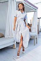 Повседневное платье на пуговицах