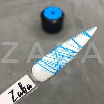Паутинка Zaba professional Spider gel, голубой неон, 5 г