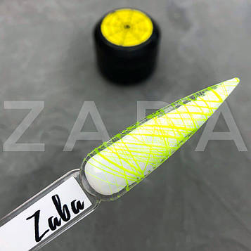 Паутинка Zaba professional Spider gel, желтый неон, 5 г