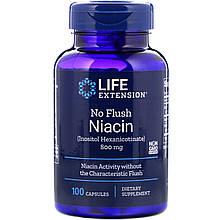 """Ніацин Life Extension """"No Flush Niacin"""" вітамін В3, 800 мг (100 капсул)"""
