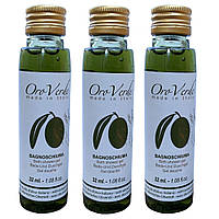 Одноразовый гель для душа ORO VERDE на основе оливкового масла  (флакон 32мл)
