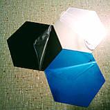 Акриловое зеркало «Сота» 184×160×92×1 мм 1 шт серебро, фото 8