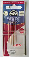 Голки вишивальні DMC №1-3-5 (4 голки)/ Иглы вышивальные DMC№ 1-3-5 (4 иглы), фото 1