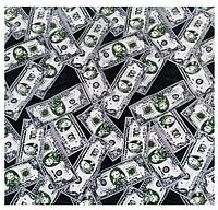 Хлопковая бандана Fashion Доллар 55*55 см черный, фото 1