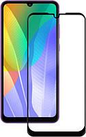 Захисне скло 5D (Full Glue) Huawei Y6p (2020) Чорний