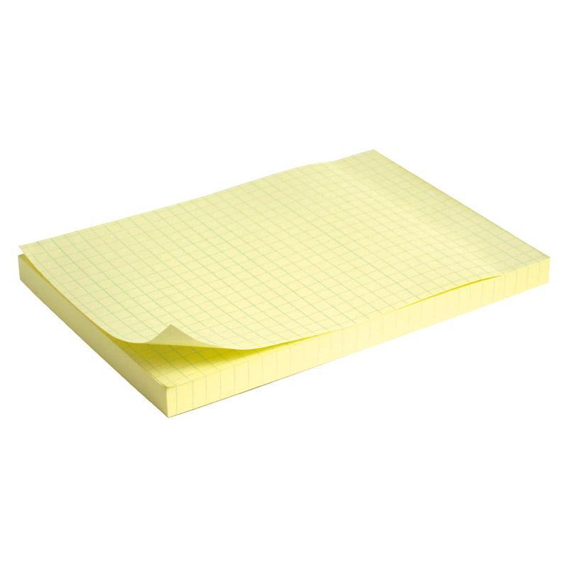 Блок бумаги с клейким слоем 100x150мм 100 листов клетка. Пастель желтый.75г/м2. Axent 3330-02