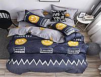 Семейный Комплект постельного белья IMAN из Бязи, Хлопок GOLD LUX 2 пододеяльника Постільна білизна