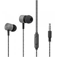 Навушники Walker H320 з мікрофоном black-grey