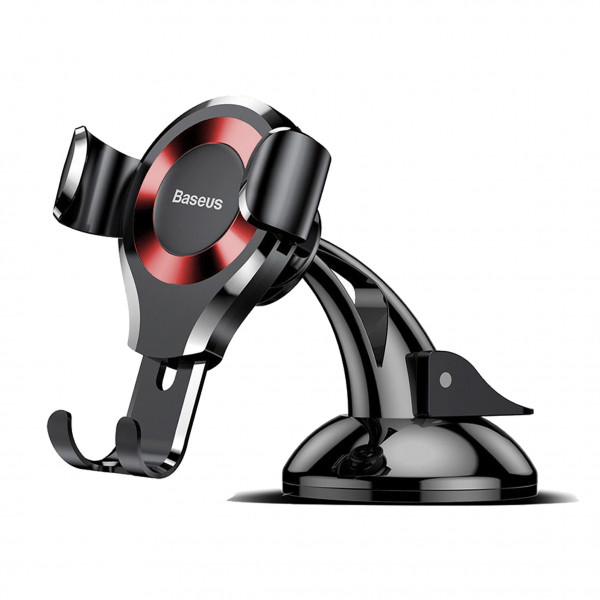 Автодержатель BASEUS PREMIUM Osculum Type Gravity Car Mount Black-red