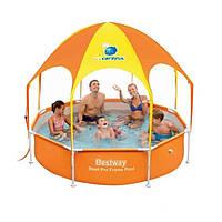 Круглый каркасный бассейн с душем и навесом Bestway 244*51 см
