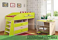 Кровать чердак + лестница + стол Легенда 12.1 Design Service