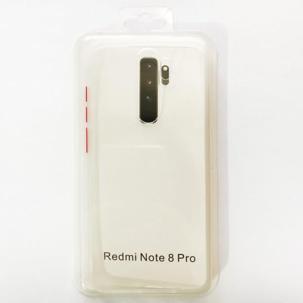 Накладка Gingle Clear Case Xiaomi Redmi Note 8 Pro white/red
