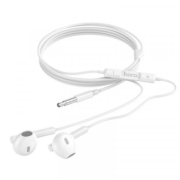 Наушники HOCO M64 Melodious wire control earphones with mic White