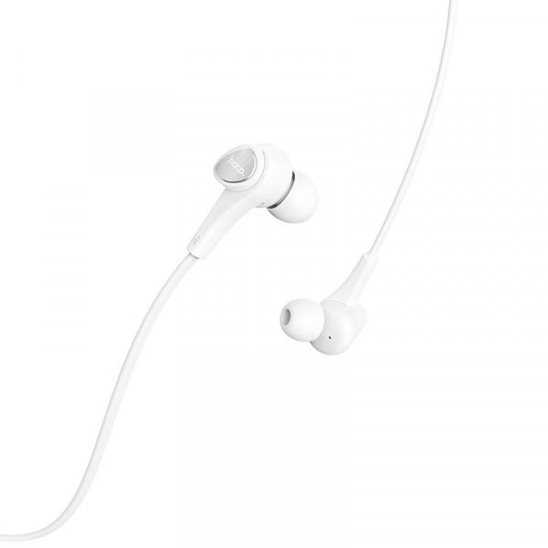 Наушники HOCO M66 Passion in-line control eaphones with mic White