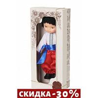 Кукла Мальчик в вышиванке (белый)