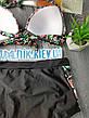 Чёрный купальник с розами высокие трусы яркий Купальник Пушап PushUp красивый 2020 - 130-35, фото 5