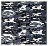 Хлопковая бандана Fashion Камуфляж 55*55 см серый