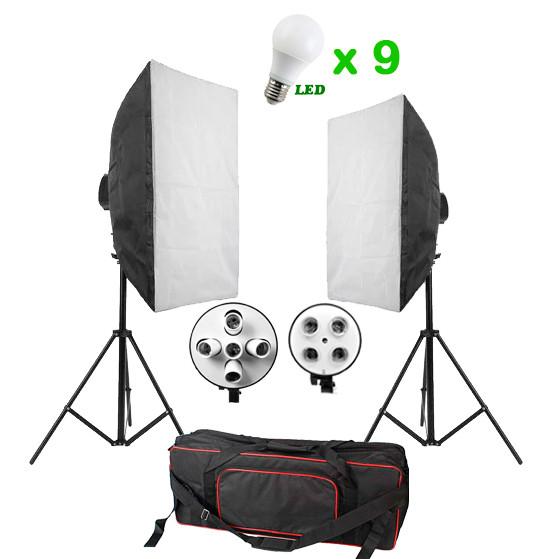 1620Вт-2250Вт Набор постоянного света FST 5769 LED softbox Kit Bag