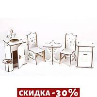 Набор деревянной мебели Кухня большая