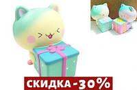 Игрушка-антистресс с ароматом Squishy Котик с подарком