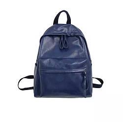 Кожаный рюкзак синий большой Diehe (AV241)