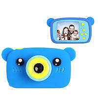 Цифровой детский фотоаппарат XOKO KVR-005 Bear Голубой+карта памяти на 32Гб
