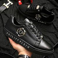 Черные мужские кроссовки Philipp Plein, Реплика