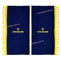 Полный комплект шторок в кабину сельхозтехники, Blue, 1+4, NEW HOLLAND