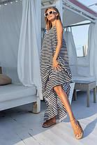 Длинное летнее платье на бретелях, фото 3