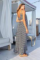 Длинное летнее платье на бретелях, фото 2