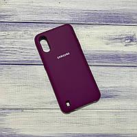 Чохол Silicone Case Samsung Galaxy A01 (2020) / A015 Баклажан