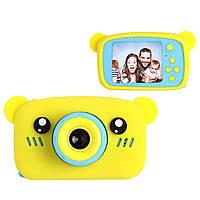 Цифровой детский фотоаппарат XOKO KVR-005 Bear Желтый+карта памяти на 32Гб